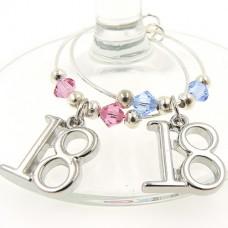 18th Birthday Wine Glass Charms