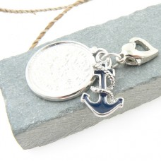 Anchor and Sixpence Garter Charm