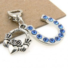 Irish Claddagh and Horseshoe Garter Charm