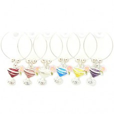 Cocktail Glass Wine Charms