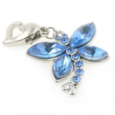 Crystal Dragonfly Garter Charm