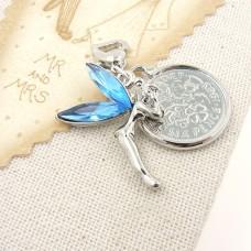 Crystal Fairy and Sixpence Garter Charm