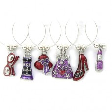 Enamel Girlie Wine Glass Charms