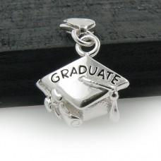 Sterling Silver Graduation Cap Charm