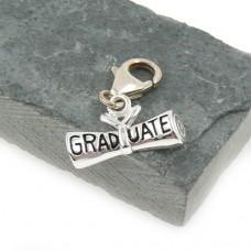 Sterling Silver Graduation Diploma Charm