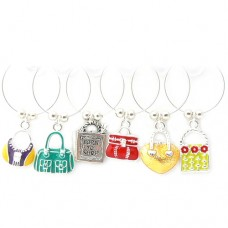 Handbag Wine Glass Charms