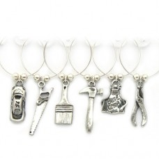 Boys Toys Wine Glass Charms