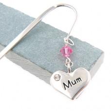 Mum Charm Bookmark - Birthstone Swarovski® Crystal
