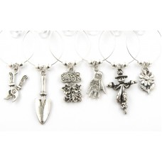 Gardeners Wine Glass Charms - Set of 6