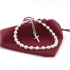 Pearl and Sterling Silver Holy Communion Bracelet