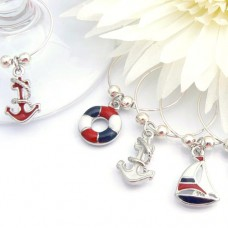 Sailing Wine Glass Charms - Set of 6
