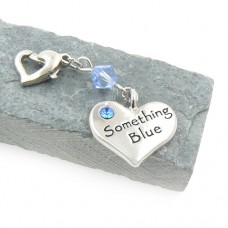 Something Blue Heart Garter Charm with Swarovski®