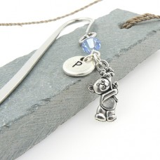 Teddy Bear Bookmark with Swarovski® Crystal