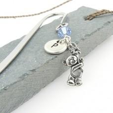 Teddy Bear Bookmark with Swarovski® Crystal