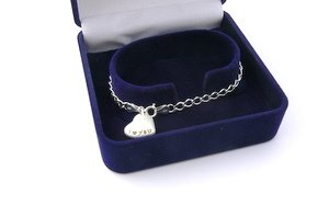 boxed anniversary gifts sterling silver heart charm bracelet