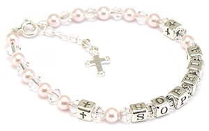 childrens name bracelet for first holy communion