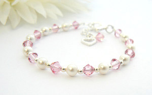 christening gift bracelet for girls