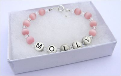 girls jewellery name bracelet boxed