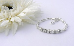 christening gift personalised name bracelet