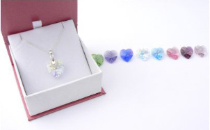 Crystal Heart Necklace - Keepsake or Thank You Gift