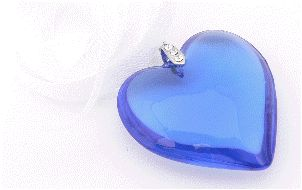bouquet charm glass heart