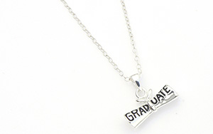 graduation diploma charm necklace