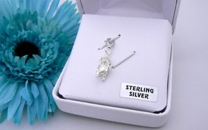 Graduation Teddy Bear - Sterling Silver for Charm Bracelets