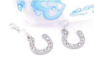 something blue wedding gift bouquet and garter charm set