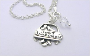 just married charm bracelet