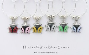 Bug Me - Ladybird Wine Glass Charms