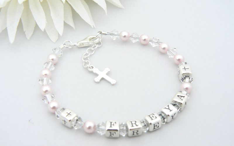 Sterling Silver Name Bracelet First Holy Communion Gift