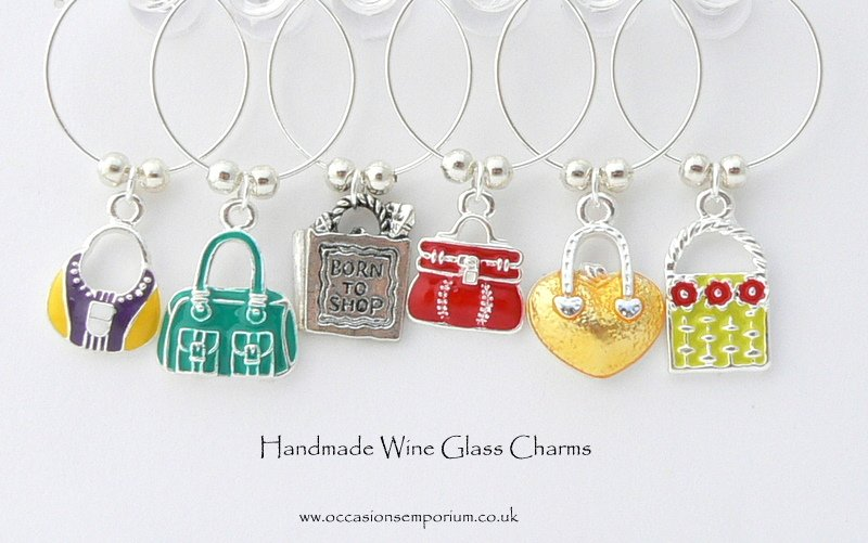 Handbag Wine Glass Charms Unusual Gift For Girls
