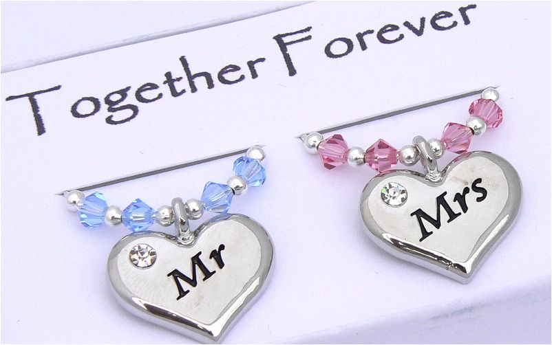Mr And Mrs Gifts Wedding: Mr And Mrs Wine Glass Charms