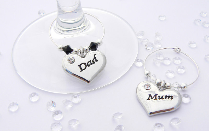 Mum and Dad Wine Glass Charms