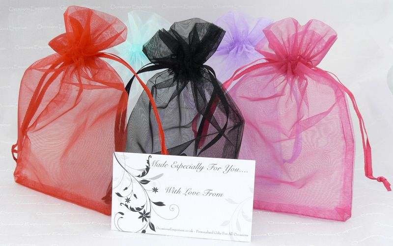 Gift wrap service christening presents graduation presents organza gift bags negle Images