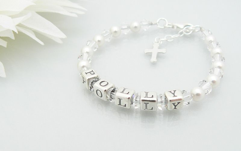 Childrens Name Bracelet Personalised Christening Gift