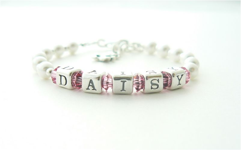 personalised christening gift bracelet