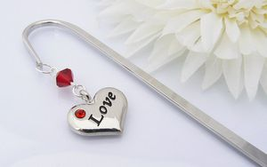 Love Charm Bookmark - Silver Anniversary Gifts