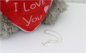 Double Heart Charm Bracelet - Sterling Silver Personalised Gift
