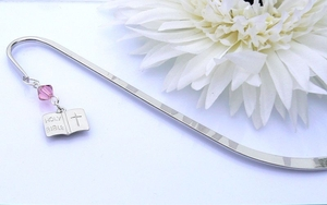 Holy Bible Charm Bookmark - First Holy Communion Gift