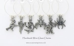 Gothic Halloween Wine Glass Charms