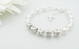 Childrens Name Bracelet - Christening Presents