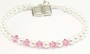 First Holy Communion Sterling Silver Bible Charm Bracelet