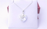 Bridesmaid and Maid of Honour Crystal Heart Necklace