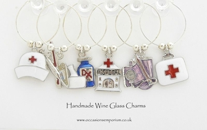 Medical  Wine Glass Charms
