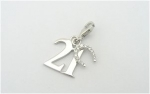21st Birthday - Sterling Silver Charm for Bracelets
