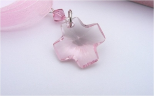 Pink Crystal Cross Bouquet Charm -  Wedding Bouquet Decoration