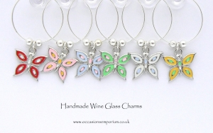 Flutter By - Butterfly Wine Glass Charms