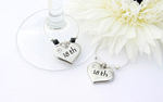18th Wine Glass Charms - set of 2