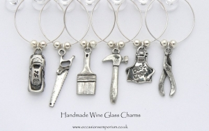 Boys Toys Wine Glass Charms - Unusal Gifts For Men